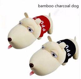 Wholesale Dog Charcoal - 2017NEW2pcs 30cm dog plush toy doll car home bamboo charcoal bag papa dog car doll gift ornaments, dog stuffed animal toy