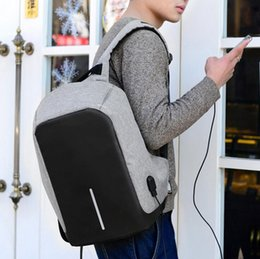 Wholesale Oxford Laptop Bag - Anti-theft Laptop Notebook Backpack With USB Charging Port Oxford Fabric Womens School Travel Shoulder Bag Business Backpacks 20pcs OOA2780