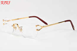 Wholesale Shades For Mens - 2017 Brand Designer Sunglasses For Women Mens Fashion Oversized Cat Eye Sun glasses Vintage Shades Ladies Oversize Rimless Sunglasses