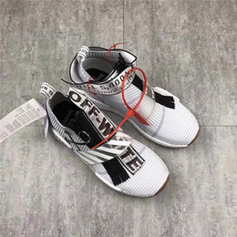 Wholesale Soled Socks - Real Boost Soles!! Off White Nmd Boost Basf Soles Running Shoes Men's NMD Sneakers Mens Sports Boots Off-White City Sock Man Sport Shoes