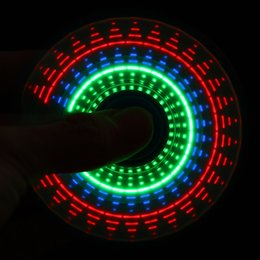 Wholesale Fantasy Lights - LED Light Rainbow color Hand Spinner Finger Plastic EDC Fidget Spinner Autism And ADHD Relief Focus Anxiety Stress Wheel Toys