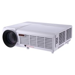 Wholesale Projection Lcd - Wholesale-3000 Lumens LED - 96 Portable Projector Full HD 1080P 1280 x 800 Pixels projection Multimedia LCD HDMI Cable VGA Port projecteur