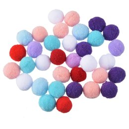 Wholesale Craft Pompoms - Hoomall 100PCs Mixed Color Pom poms Fur Balls DIY Crafts Pompom For Kids Wedding Home Decoration Round 1.5cm