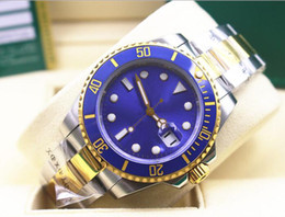 2019 relógio de ouro azul cerâmico de safira Alta qualidade safira azul relógio luminescente 40mm cerâmica dois tons de ouro 116613 116613lb Ásia automático mens relógios 2813 movimento desconto relógio de ouro azul cerâmico de safira
