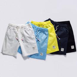 Wholesale Mens Linen Trousers Skinny - Wholesale- KUAMAI Shorts Men Summer Fashion Mens Shorts Casual Black Linen Slim Bermuda Masculina Beach Shorts Joggers Trousers Solid Color
