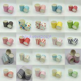 Wholesale Paper Model Patterns - 3000Pcs Lot Round Big Paper Cupcake Case in Multiple Pattern Muffin cups Cake holder Dessert Case