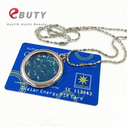 Wholesale Ion Energy Necklace - scalar energy 6000CC High Ion Bio Chi Quantum Pendant Scalar Energy with Stainless Steel Necklace Chain Best Quality 2pcs lot