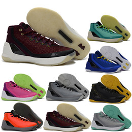 Wholesale Men Shoes Factory Price - High quality Retro V3 Space 1:1 Exquisite Step-C SC Basketball Shoes Men Women #30 basketball shoes Sneakers With Box factory price