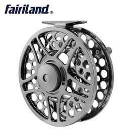 Wholesale Aluminum Fly Reels - 9 11 110mm 4.33in 2BB+1RB PRECISION Machined fly reel ALUMINUM fly fishing reel metal ice wheel for big game player fishing tackle