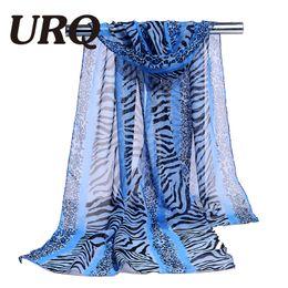 Wholesale Leopard Pattern Scarves - Wholesale- chiffon scarf leopard print women's muslim lady pattern spring and autumn foulard scarf patterns cape shwal wrap 2017 new