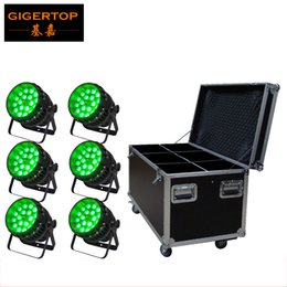 Wholesale Active Dual - TIPTOP 6IN1 Flightcase Pack 18*12W 4in1 Waterproof Led Par Cans Tyanshine Par Zoom Led Light Freeshipping 5 9 Dual Channels TP-P81