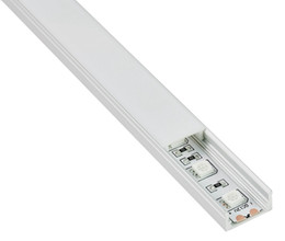 Wholesale U Profiles - 10 X 1M sets lot Anodized U type aluminium profile led light and extruded led strip profile smd5630 for flooring or wall lights