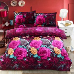 Wholesale Comforters King Size Wholesale - Wholesale-2016 Newest 4Pcs 3D Bedding sets Bedding-set Bed Set King Size Sheets Duvet Cover Quilt Pillow No Comforter
