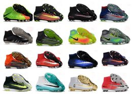 Wholesale Cheapest Slip Shoes - Top Quality Kids Mercurial Superfly FG CR7 Magista Obra Soccer Shoes Cristiano Ronaldo Cleats Neymar Footbal Shoes Cheapest Soccer Boots