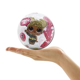 Wholesale Funny Baby Girl - Funny LOL surprise doll Glitter 10cm toys 35+ with retail package 12 styles baby blinking dolls for girls christmas gift