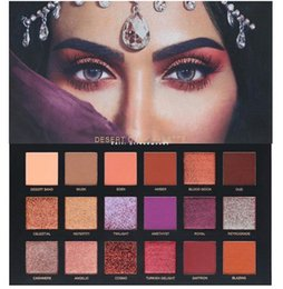 Wholesale Pro B - 2017 New Arrived H*U*D*A B*eauty Desert--Dusk eyeshadow palette 18 colors Shimmer Matte beauty palette Pro Eyes Makeup Cosmetics eyeshadow