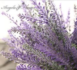 Wholesale Lavender Artificial Flower - Romantic Provence decoration lavender flower silk artificial flowers grain decorative Simulation of aquatic plants G231