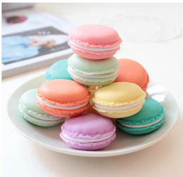 Wholesale plastic jewelry cases - Cute candy color Macaron storage box jewelry Packaging Display pill case organizer home decoration gift 4*2cm