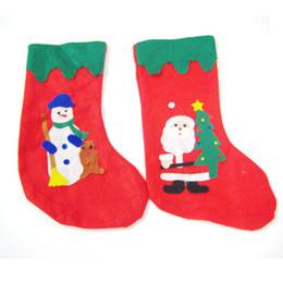 Wholesale Hanging Santa Claus Decoration - 12Pcs Merry Christmas Socks Decoration And Hanging Ornaments Santa Claus Stockings Christmas Socks Christmas Tree Decorations