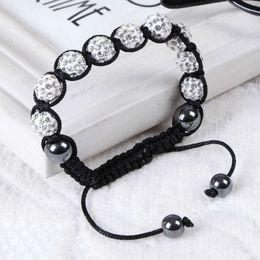Wholesale Crystal Shambala - Shambala Bracelets Macrame Multicolor Crystal Beads Bracelets Crystal Ball Bracelet Shambala Balls Beaded Bracelets Fashion Jewelry