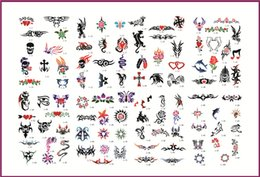 Wholesale Fashion Tattoo Stickers Booklets Self adhesive Airbrush Tattoo Stencil Books for Temporary Body Tattoo