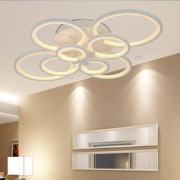 Wholesale Modern Acrylic Ceiling Lamp - LEDVAS LED Modern Ceiling Lights Ceiling Lamp Remote Control Dimmable Originality Acrylic Decorative For Living Room Bedroom 8023