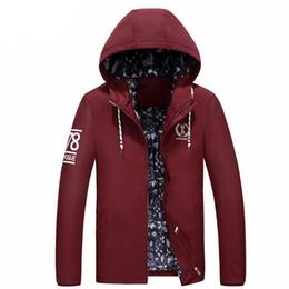 Wholesale Men S Fitted Trench Coat - 2018 Long Trench Coat Men Slim Fashion Zipper Hooded Jacket 4 Color Plus Size 4XL Fit Men Classic Windbreaker