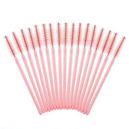 Wholesale Eyelashes Brush Disposable - New Hot Sale Soft Girl 50Pcs Disposable Eyelash Brush Mascara Wands Makeup Cosmetic Tool Free Shipping