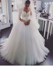 Wholesale Wedding Dresses Sweetheart Mermaid China - 2017 Elegant Wedding Dresses with Pearls Lace China Cheap Straps Sweetheart Neck Tulle Corset Long Merry Bridal Gowns Vestido De Noiva