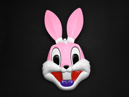 Wholesale Rabbit Dance Costume - Funny Party Halloween Glowing rabbit EL wire Mask Flashing Cosplay LED MASK Costume Anonymous Mask for Glowing dance Carnival Party Masks F