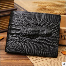 Wholesale Clutch Leather For Men - Top quality 2017 Male Genuine Leather luxury wallet Casual Short designer Card holder pocket Fashion Purse wallets for men