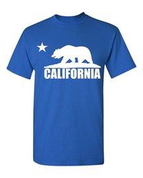 Wholesale California Shirts - 100% Cotton T-Shirt Comfortable O-Neck Top Tee Stylishcalifornia Republic Bear White T-Shirt California T Shirt Shirts