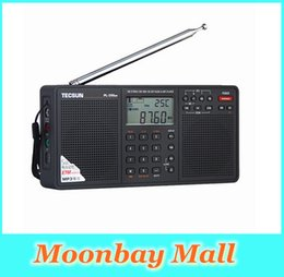 Wholesale Rechargeable Battery D - Wholesale-2016 New Arrival Tecsun PL-398MP Portable Radio fm Stereo has MP3 Playback Function(With SD Card Slot ) Full-band Stereo Radio