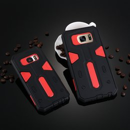 Wholesale Dirt Shock Cover Galaxy S4 - shock-resistant 2 in 1 double Coque For Samsung Galaxy s4 s5 s6 s6edge plus Fundas protection For Samsung s7edge Cases Cover Shell