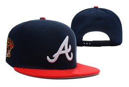 Wholesale Sell Spring Letter - 2017 hot selling Atlanta Braves Snapback Medium Raised Embroidery Letter Fitted Hat Classic High Crown Baseball Fit Cap Free shipping