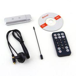 Wholesale Digital Tv Receiver Antenna - USB 2.0 DVB-T Digital TV Receiver HDTV Tuner Dongle Stick Antenna IR Remote