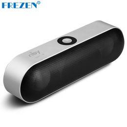 Wholesale hifi stereo sound system - Wholesale- FREZEN Mini Sport Bluetooth Speaker Portable Wireless Speaker Sound System 3D Stereo Music Surround Support Bluetooth TF AUX USB