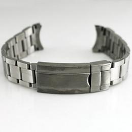 Wholesale Mens Solid Stainless Steel - 20mm 316L Solid Watchband Watch Bands Stainless Steel With Buckle Watch Straps For Men High quality Watchbands Mens Bands Replacement P210