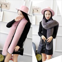 Wholesale fake fur scarfs - womens winter high fashion scarf fox fur scarves shawls ladies scarfs fake collar echarpe hiver femme foulard sjaal bufandas mujer YYA649