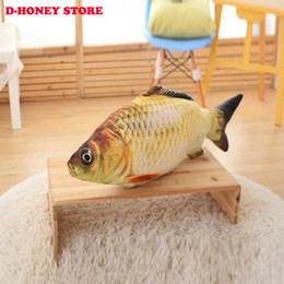 Wholesale Valentine Day Pillows Wholesale - 40cm Free Shipping New crucian fish Pillow Stuffed Plush Animal Fish Toy little fish Stuffed Dolls Valentines for Baby