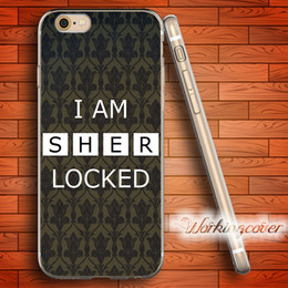 Wholesale Iphone 4s Sherlock - Fundas I am Sherlock Soft Clear TPU Case for iPhone 6 6S 7 Plus 5S SE 5 5C 4S 4 Case Silicone Cover.