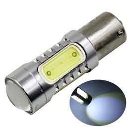 Wholesale High Power Led Ba15s - 2pcs lot 1156 BA15S 7.5W COB LED Car Auto Turn Signal Reverse Lights Backup Bulb Lamp Red Yellow White 10-24V Free high power