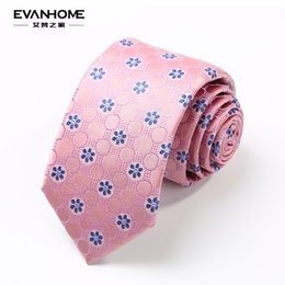 Wholesale Mens Necktie Pattern - Wholesale- AI Vatican home spring new silk necktie Mens business suits 7cm pink silk necktie pattern pieces