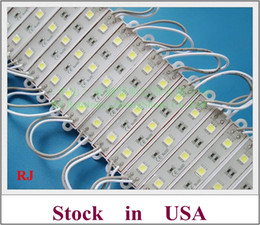 Wholesale Usa Signs - Stock in US waterproof IP65 LED module light for sign letters and channel letter SMD 5050 DC12V 3 led 45lm 0.72W Stock in USA