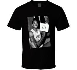 projeto do algodão da porta Desconto Kobe Bryant 81 Ponto Jogo Versão 2 Camiseta L Preto
