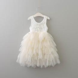 Canada Détail été nouvelle fille dentelle robe princesse fleur à paliers en tulle robe d'été à mi-mollet pour robe de mariage vêtements pour enfants 2-8Y E17103 cheap mid calf dresses for girls Offre