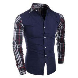 Wholesale Cheap Xxl Dresses - Free Shipping+Cheap Price ! Men's Casual Shirts Fashion Slim Dress Shirts ! M-XXL,2 Color ! Men's Clothing hot