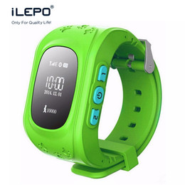 Wholesale Gsm Red - Q50 Smart Phone GPS Watch Kids OLED GSM GPRS Locator Tracker Anti-Lost Kids gps Watch for iOS Android cellphone