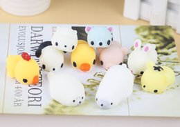 Wholesale japan gift toy - 500PC Hasbro Toy Kawaii Original Japan Lazy Cat Mochi Decompress Squishy Squeeze Cat Healing Toy Cute Little Animal Dumpling Gifts for Kids
