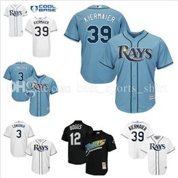 Wholesale Rays Light - Men's Tampa Bay Rays 39 Kevin Kiermaier Baseball Jerseys MLB 3# Evan Longoria Majestic Light Blue white Cool Base Stitched Jersey